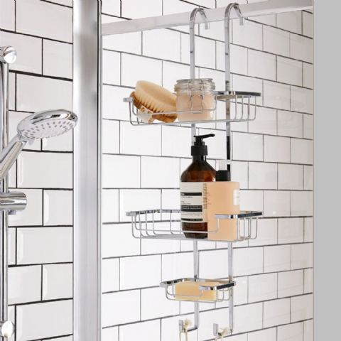 Croydex Over Shower Screen Rail or Pipe Storage Basket
